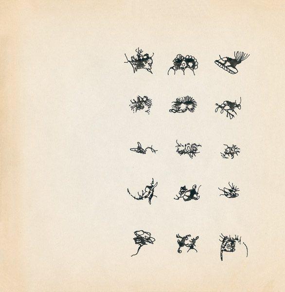 "LEBADANG, ""Genesis_01"", circa 1960, encre de Chine sur papier, 16.8 x 16.3 cm. © Myshu Lebadang, Paris, France."