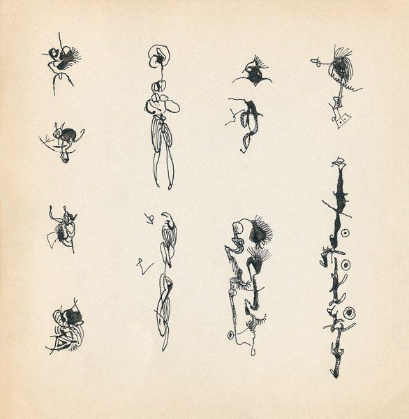 "LEBADANG, ""Genesis_06"", circa 1960, encre de Chine sur papier, 16.8 x 16.3 cm. © Myshu Lebadang, Paris, France."