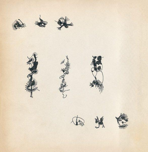 "LEBADANG, ""Genesis_08"", circa 1960, encre de Chine sur papier, 16.8 x 16.3 cm. © Myshu Lebadang, Paris, France."