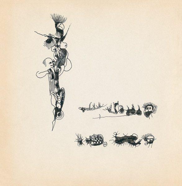 "LEBADANG, ""Genesis_11"", circa 1960, encre de Chine sur papier, 16.8 x 16.3 cm. © Myshu Lebadang, Paris, France."