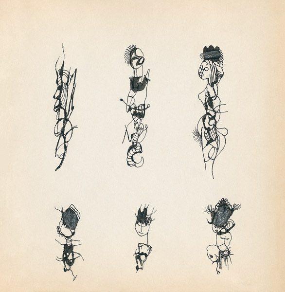 "LEBADANG, ""Genesis_12"", circa 1960, encre de Chine sur papier, 16.8 x 16.3 cm. © Myshu Lebadang, Paris, France."