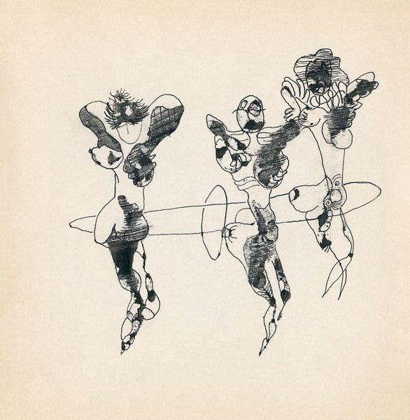 "LEBADANG, ""Genesis_19"", circa 1960, encre de Chine sur papier, 16.8 x 16.3 cm. © Myshu Lebadang, Paris, France."