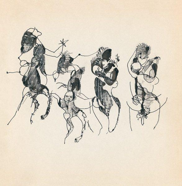 "LEBADANG, ""Genesis_20"", circa 1960, encre de Chine sur papier, 16.8 x 16.3 cm. © Myshu Lebadang, Paris, France."