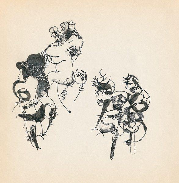 "LEBADANG, ""Genesis_21"", circa 1960, encre de Chine sur papier, 16.8 x 16.3 cm. © Myshu Lebadang, Paris, France."
