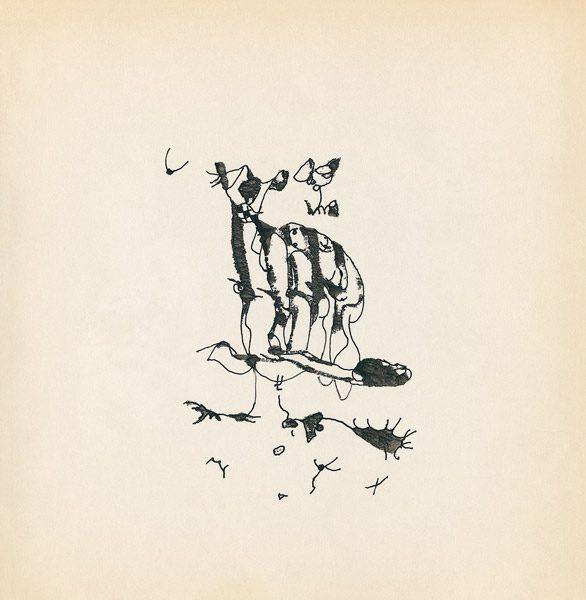 "LEBADANG, ""Genesis_22"", circa 1960, encre de Chine sur papier, 16.8 x 16.3 cm. © Myshu Lebadang, Paris, France."