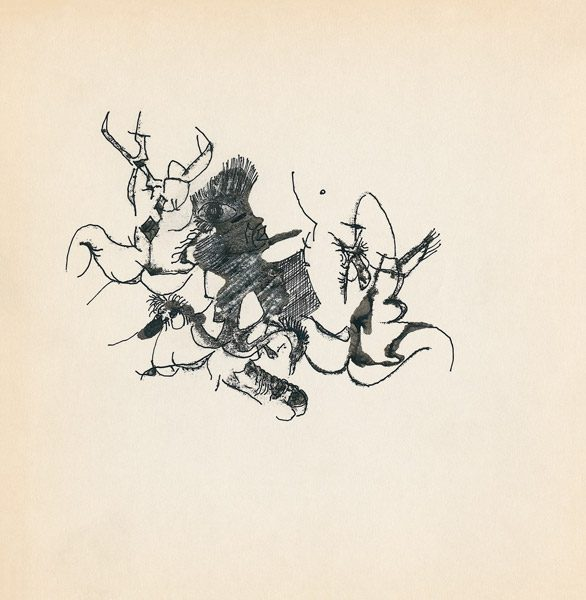 "LEBADANG, ""Genesis_23"", circa 1960, encre de Chine sur papier, 16.8 x 16.3 cm. © Myshu Lebadang, Paris, France."