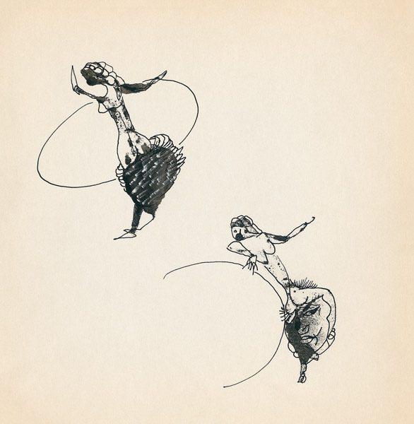 "LEBADANG, ""Genesis_24"", circa 1960, encre de Chine sur papier, 16.8 x 16.3 cm. © Myshu Lebadang, Paris, France."