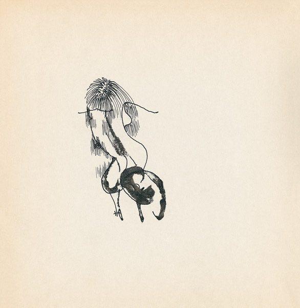 "LEBADANG, ""Genesis_25"", circa 1960, encre de Chine sur papier, 16.8 x 16.3 cm. © Myshu Lebadang, Paris, France."