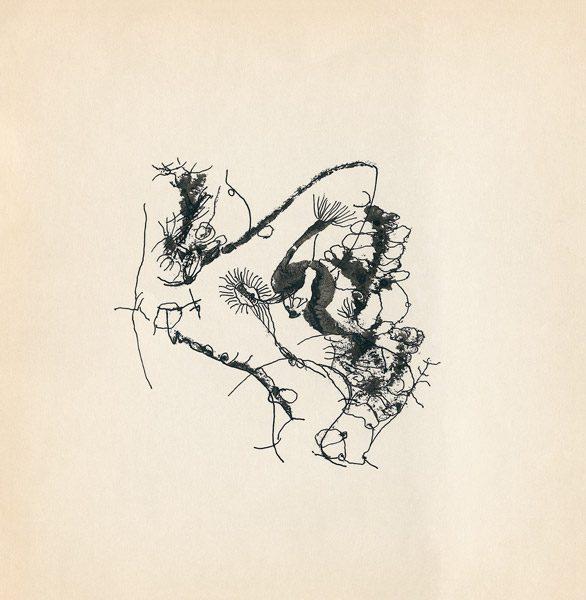 "LEBADANG, ""Genesis_26"", circa 1960, encre de Chine sur papier, 16.8 x 16.3 cm. © Myshu Lebadang, Paris, France."
