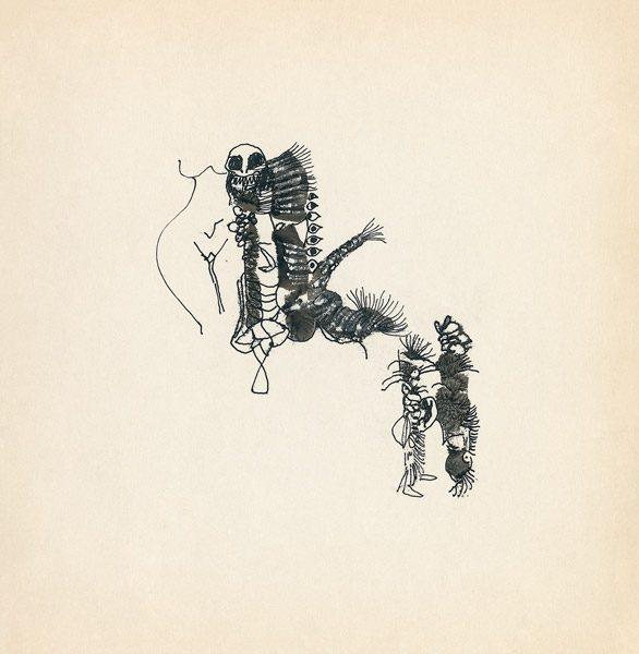 "LEBADANG, ""Genesis_27"", circa 1960, encre de Chine sur papier, 16.8 x 16.3 cm. © Myshu Lebadang, Paris, France."