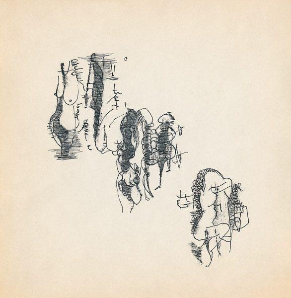 "LEBADANG, ""Genesis_33"", circa 1960, encre de Chine sur papier, 16.8 x 16.3 cm. © Myshu Lebadang, Paris, France."
