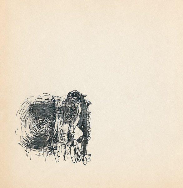 "LEBADANG, ""Genesis_39"", circa 1960, encre de Chine sur papier, 16.8 x 16.3 cm. © Myshu Lebadang, Paris, France."