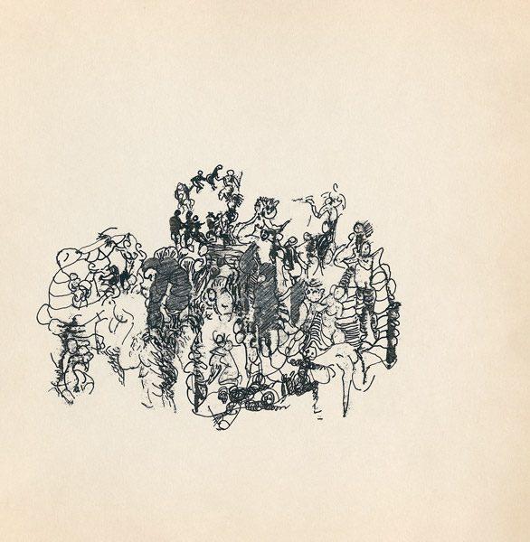 "LEBADANG, ""Genesis_40"", circa 1960, encre de Chine sur papier, 16.8 x 16.3 cm. © Myshu Lebadang, Paris, France."