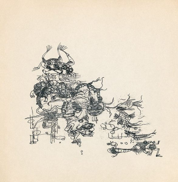 "LEBADANG, ""Genesis_41"", circa 1960, encre de Chine sur papier, 16.8 x 16.3 cm. © Myshu Lebadang, Paris, France."