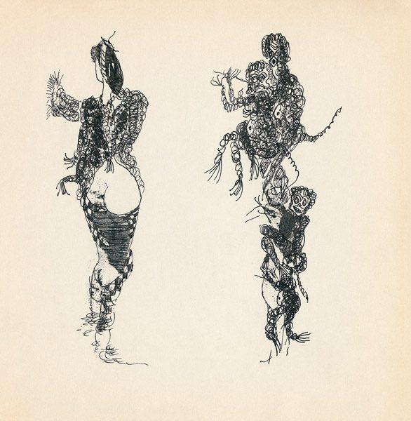 "LEBADANG, ""Genesis_42"", circa 1960, encre de Chine sur papier, 16.8 x 16.3 cm. © Myshu Lebadang, Paris, France."