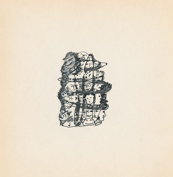 "LEBADANG, ""Genesis_43"", circa 1960, encre de Chine sur papier, 16.8 x 16.3 cm. © Myshu Lebadang, Paris, France."