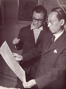 Lebadang (on the left) and Chou Ling, 1964. Rights reserved.