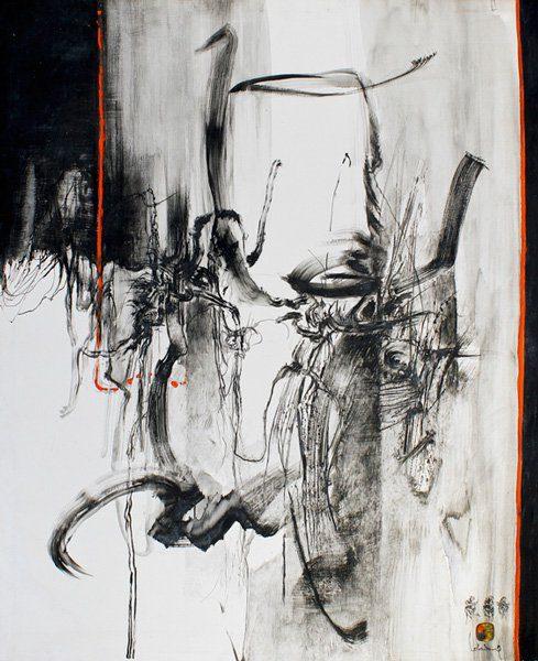"""LEBADANG, """"Paysage indomptable"""", 1970, huile sur toile, 162 x 130 cm. Fondation d'Art Lebadang, Huế, Viêt Nam. Droits réservés."""