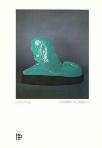 "LEBADANG, ""Le repos de l'étalon"" (The resting stallion), 1974, molten glass (Daum). Myshu Lebadang, Paris, France. Rights reserved."