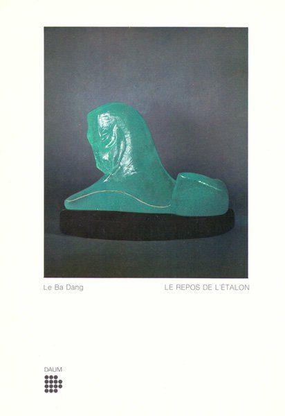 """LEBADANG, """"Le repos de l'étalon"""", 1974, pâte de verre (Daum). Myshu Lebadang, Paris, France. Droits réservés."""