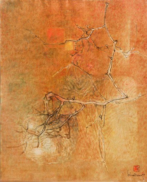 """LEBADANG, """"Arbre"""", 1978, huile sur toile, 92 x 73 cm. Fondation d'Art Lebadang, Huế, Viêt Nam. Droits réservés."""