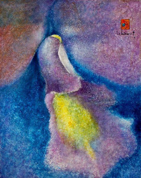 """LEBADANG, """"Orchidée"""", 1977, huile sur toile, 92 x 73 cm. Fondation d'Art Lebadang, Huế, Viêt Nam. Droits réservés."""