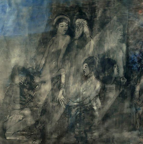 """LEBADANG, """"Guerre du Viêt Nam"""" (détail 3), 1965, huile sur toile, 120 x 700 cm. Fondation d'Art Lebadang, Huế, Viêt Nam. Droits réservés."""