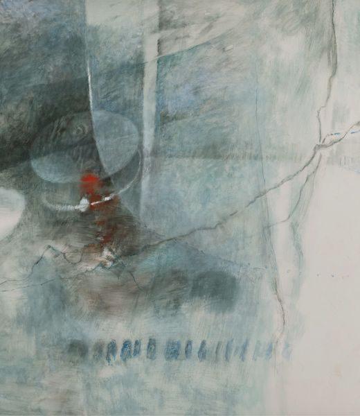 """LEBADANG, """"Paysage bleu"""" (détail 3), 1976, huile sur toile, 220 x 800 cm. Fondation d'Art Lebadang, Huế, Viêt Nam. Droits réservés."""