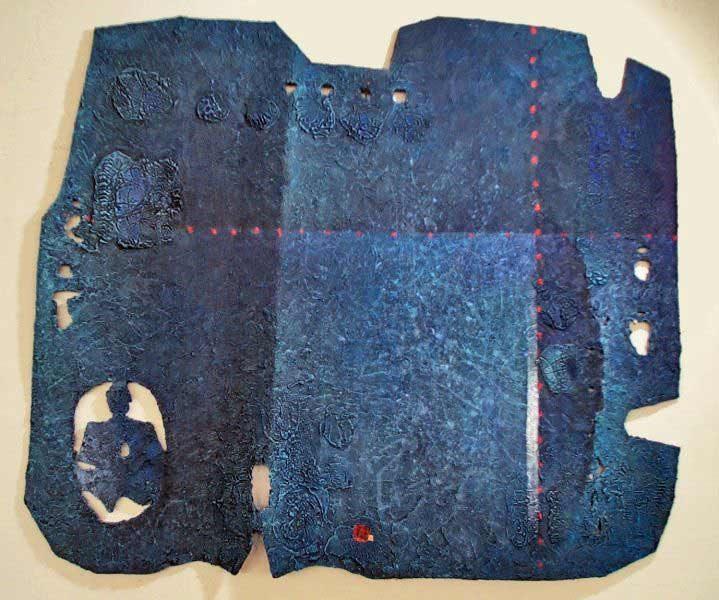 """LEBADANG, """"Espace peint"""", 2004, technique mixte sur papier. Droits réservés."""