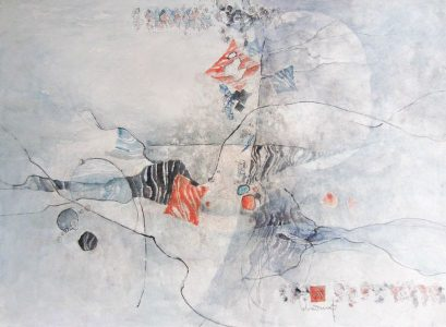 "LEBADANG, ""Female Landscape"", 1985, watercolour on paper, 56 x 76 cm. Lebadang Art Foundation, Huế, Viêt Nam. Rights reserved."