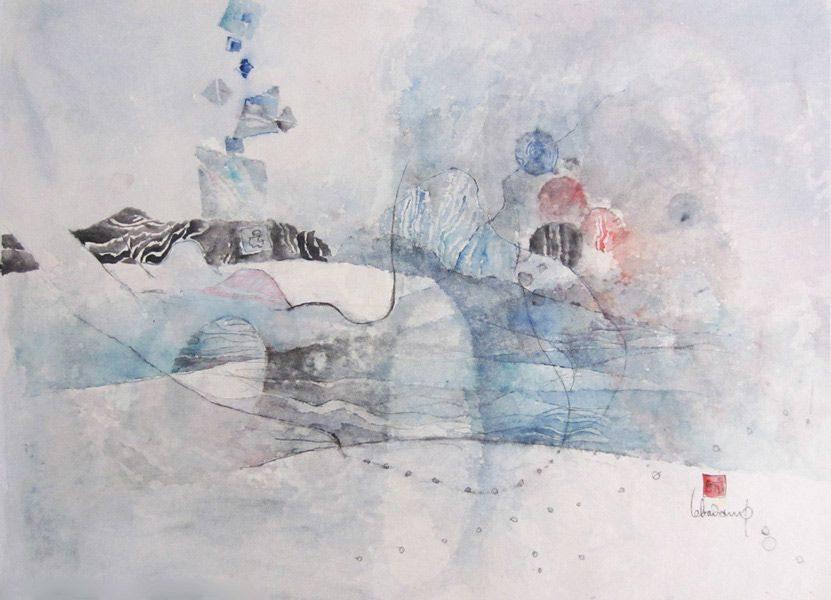 LBD109-paysage féminin-1985-aquarelle