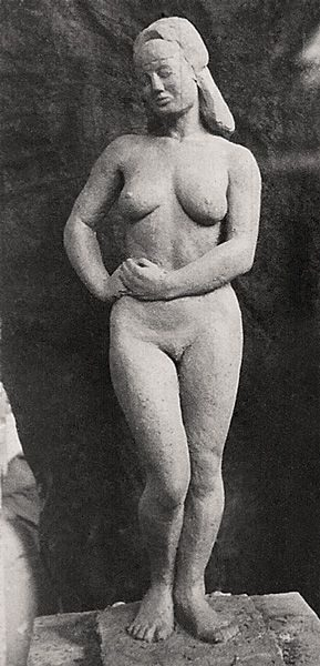 """LEBADANG, """"Buste de femme"""", 1943-1947, ronde bosse. Myshu Lebadang, Paris, France. Droits réservés."""