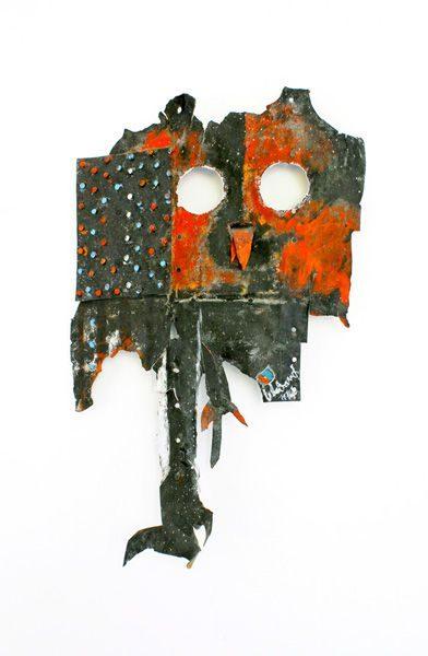 """LEBADANG, """"Oiseau"""", découpe et peintures sur acier (B-52), 52 x 34 cm. Fondation d'Art Lebadang, Huế, Viêt Nam. Droits réservés."""