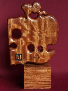 "LEBADANG, ""Couple"", wood carving. Myshu Lebadang, Paris, France. © Luc HO."