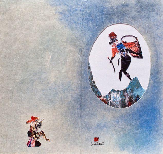 """LEBADANG, """"Hmong"""", découpe et aquarelle sur papier. Myshu Lebadang, Paris, France. © Luc HO."""