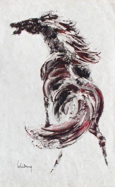 """LEBADANG, """"Cheval"""", encres de Chine sur papier. Myshu Lebadang, Paris, France. © Luc HO."""