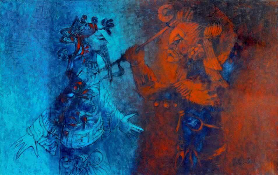 """LEBADANG, """"Ong Tao"""", 1966, huile sur toile, 73 x 116 cm. Fondation d'Art Lebadang, Huế, Viêt Nam. Droits réservés."""