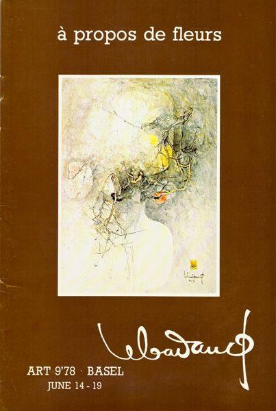 """LEBADANG, """"A propos de fleur"""", 1978, Art 9'78 Basel. Droits réservés."""