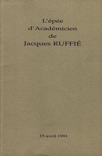 """LEBADANG, """"L'épée d'Académicien de Jacques Ruffié"""", 1991. Droits réservés."""