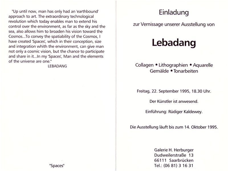 "LEBADANG, ""Galerie H. Herburger"", 1995. Droits réservés."
