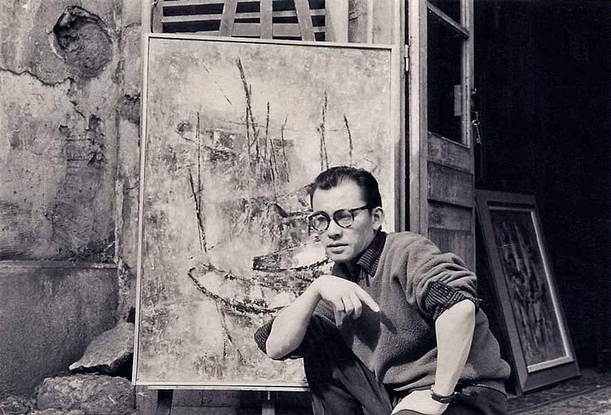 """LEBADANG, """"Forcalquier"""", 1956. Myshu Lebadang, Paris, France. Droits réservés."""