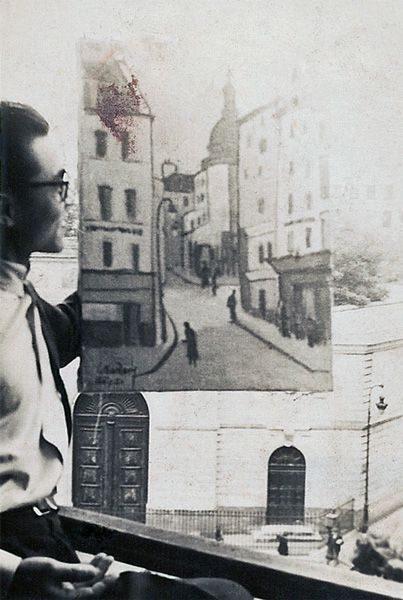 """LEBADANG, """"Rue de la Montagne-Sainte-Geneviève"""", années 1950. Myshu Lebadang, Paris, France. Droits réservés."""