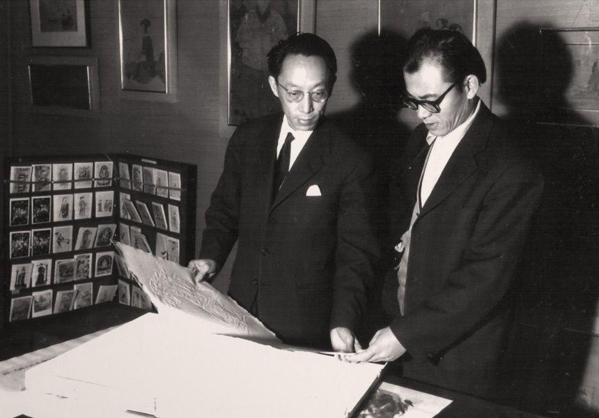 """LEBADANG, """"Lebadang et Chou Ling, 1964. Myshu Lebadang, Paris, France. Droits réservés"""