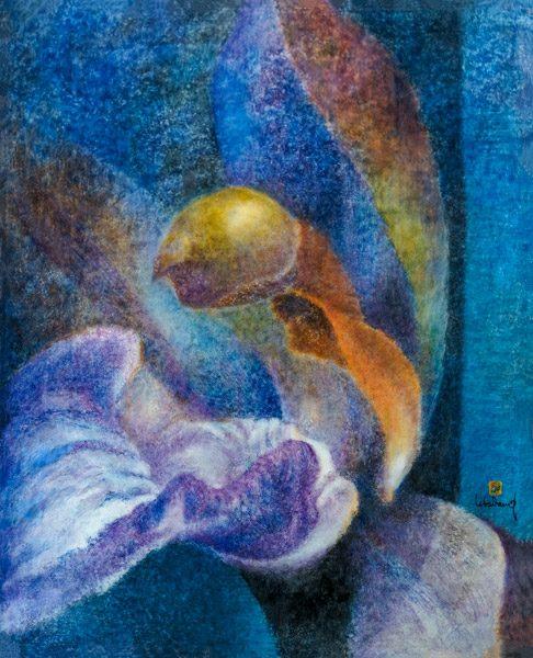 Orchidée (OR 9). 1976. Huile sur toile. 162 x 130 cm. Collection privée (Vietnam). Droits réservés. Photo : Luc HO.