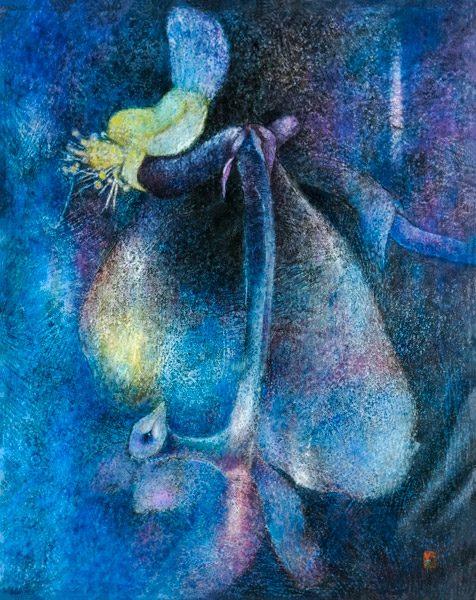 Orchidée. 1977. Huile sur toile. 162 x 130 cm. Collection privée (Vietnam). Droits réservés. Photo : Luc HO.