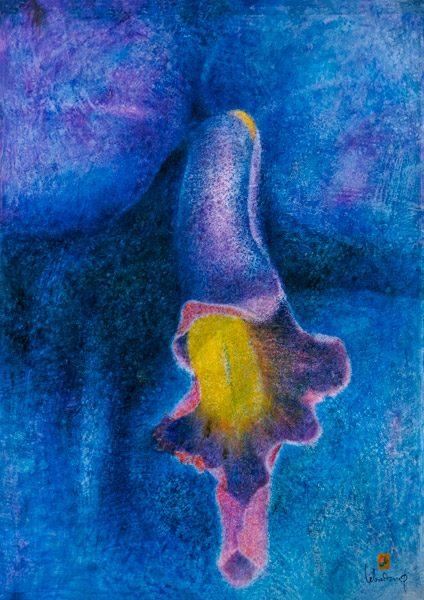 Orchidée (OR 4). Huile sur toile. 162 x 114 cm. Collection privée (Vietnam). Droits réservés. Photo : Luc HO.